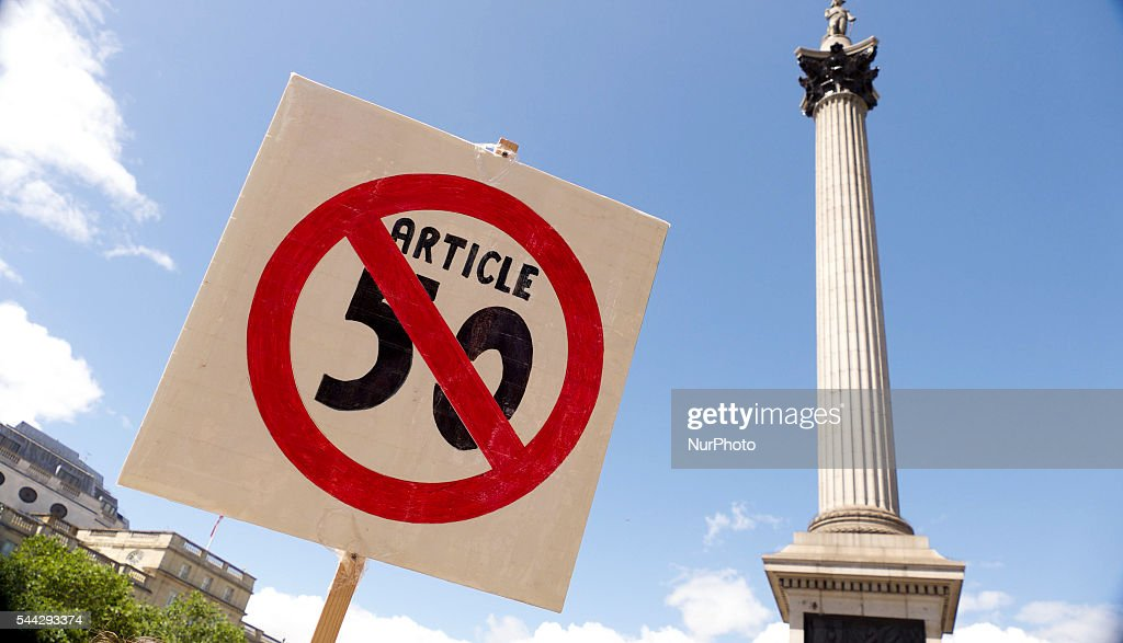 Anti 'Brexit' March In London : News Photo