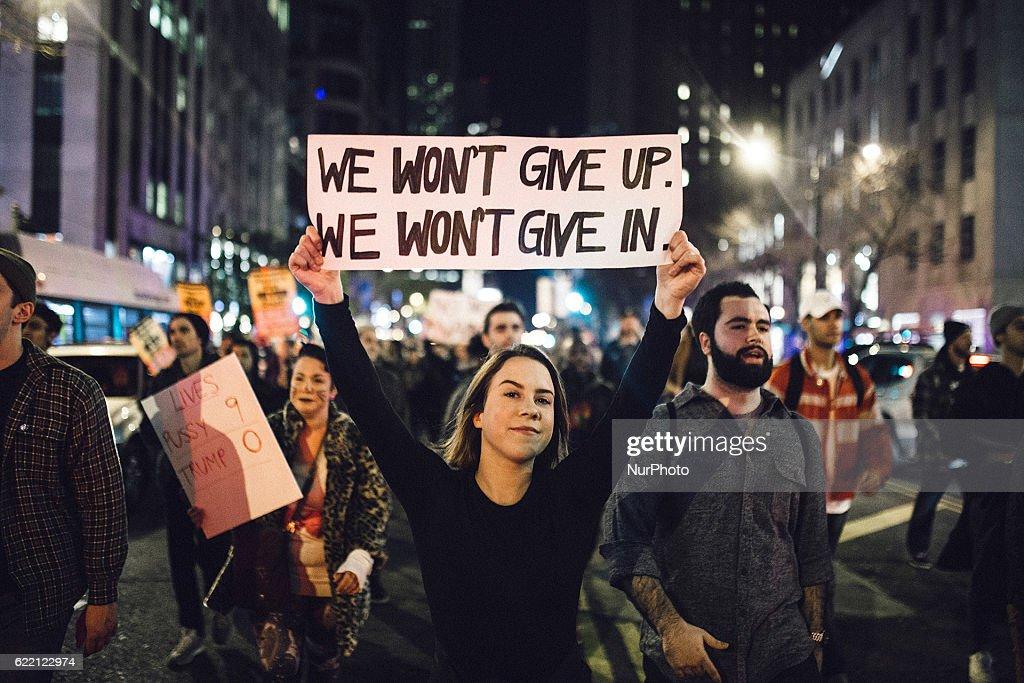 Anti Donald Trump Protest in Chicago : News Photo