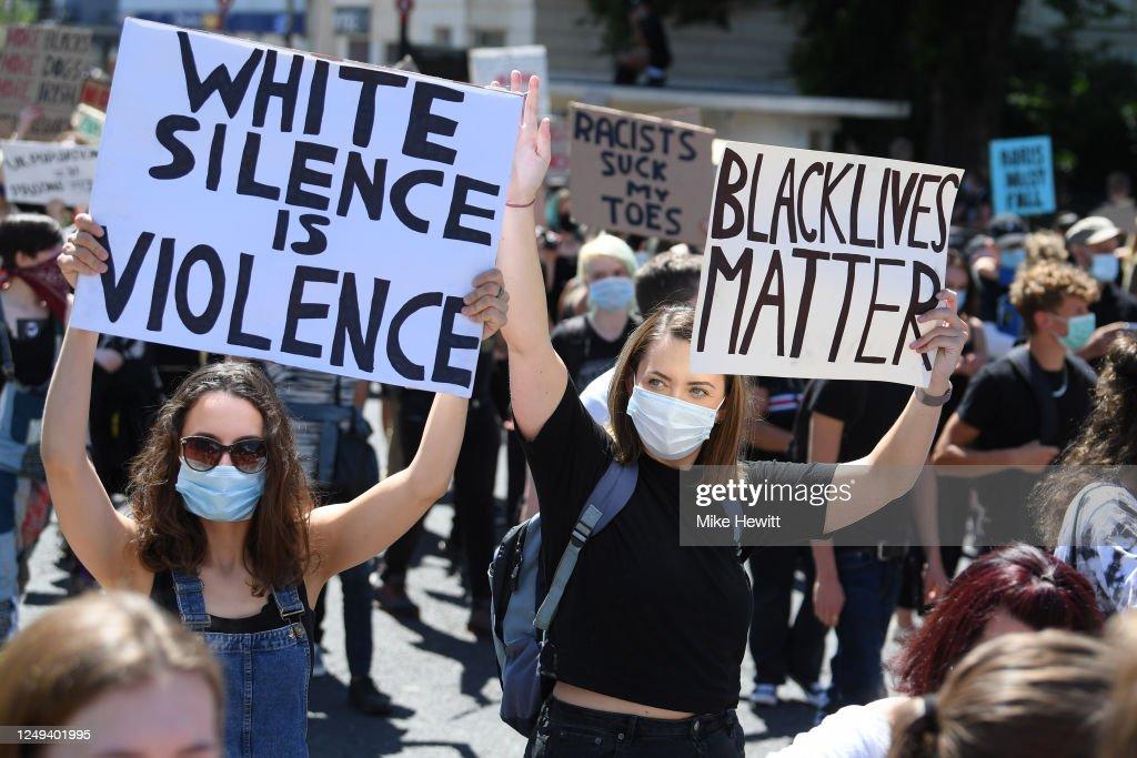 Black Lives Matter Rallies Continue Across The UK : News Photo