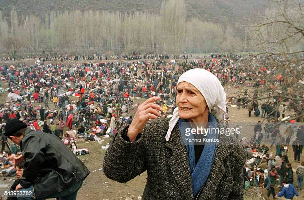 Thousands of refugees from Kosovo have come to the camp in Blace