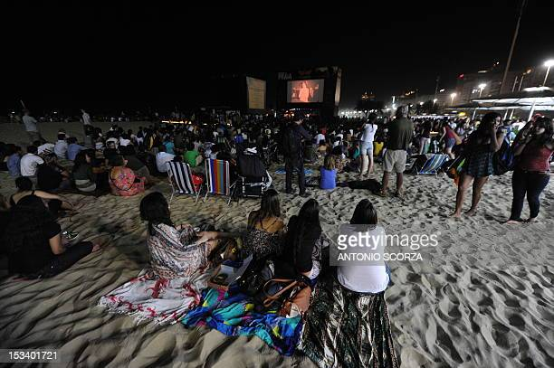 Thousands of Rio de Janeiro residents and tourists attend the first Hitchcock movie projection at Copacabana Beach part of the Rio International Film...
