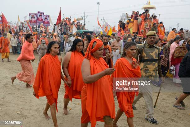 Thousands of Sadhus and millions of pilgrims move to bathe at the confluence of the Ganges and the Yamuna and the mythical Saraswati The Kumbh Mela...