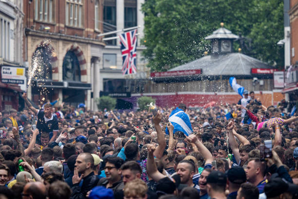 GBR: Scotland Football Fans Support Their Team In Euro 2020 Game Against England