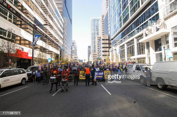 Thousands of SEIU 32BJ janitors from across the MidAtlantic region took to the streets to demand fair contracts vowing to strike if their demands...