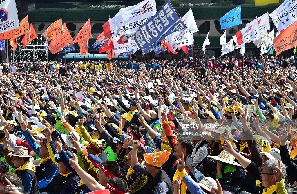 SKOREA-MAY1-PROTEST : News Photo