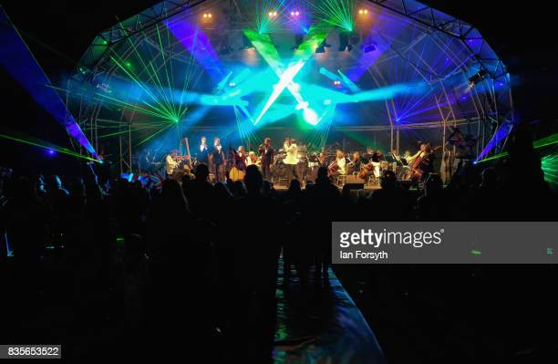 Thousands of spectators attend the annual Castle Howard Proms Spectacular concert held on the grounds of the Castle Howard estate on August 19 2017...