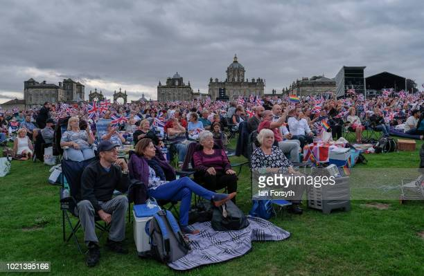 Thousands of spectators enjoy the music during Yorkshire's biggest openair proms of the summer at Castle Howard on August 18 2018 in Malton England...