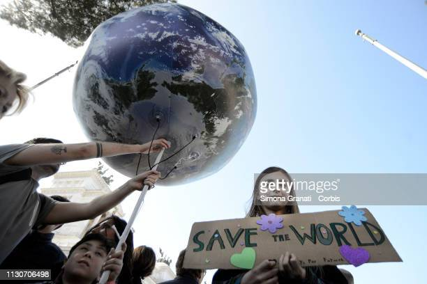 Thousands of students participate in the Global Strike For Future the general strike for the planet launched by 16yearold Greta Thunberg who has...
