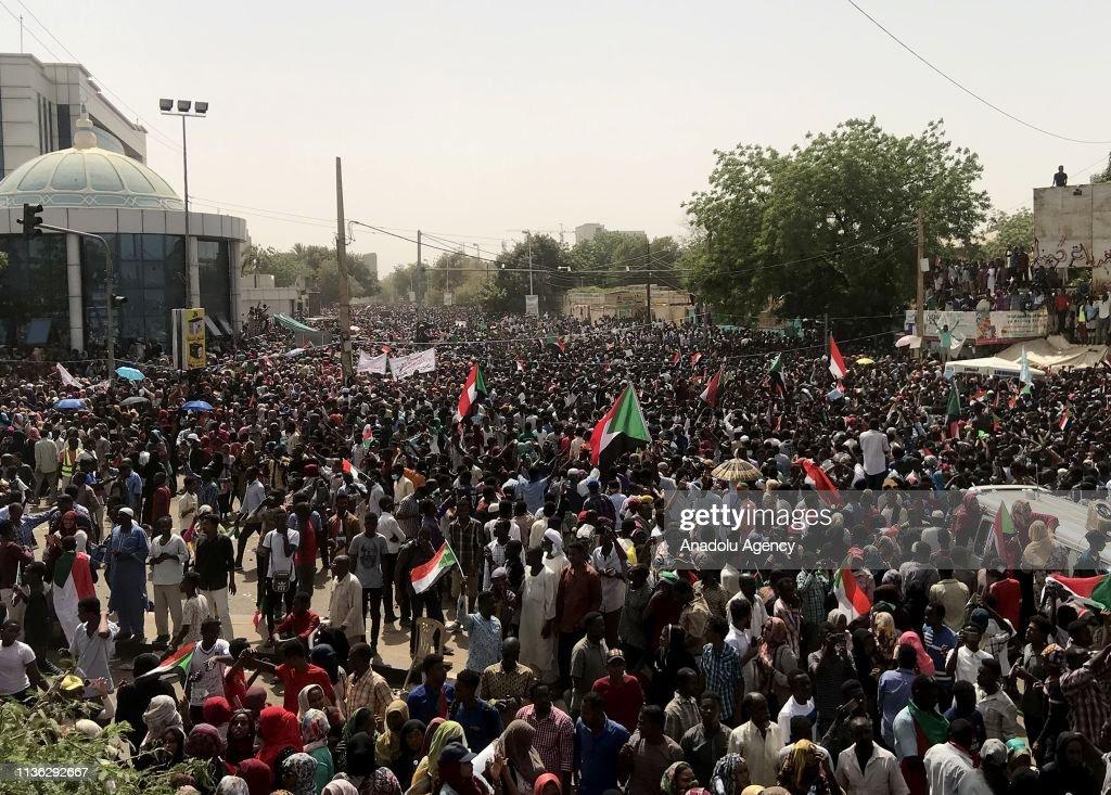 Demonstrations in Sudan : News Photo