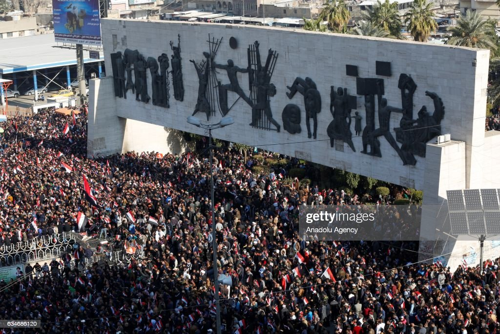 Muqtada al-Sadr supporters protest in Baghdad : News Photo