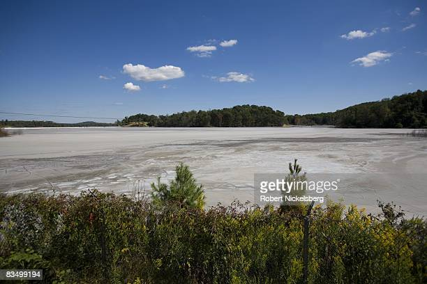 Thousands of tons of coal fly ash is deposited in an unlined landfill known as Little Blue on September 10 2008 in Chester West Virginia The fly ash...