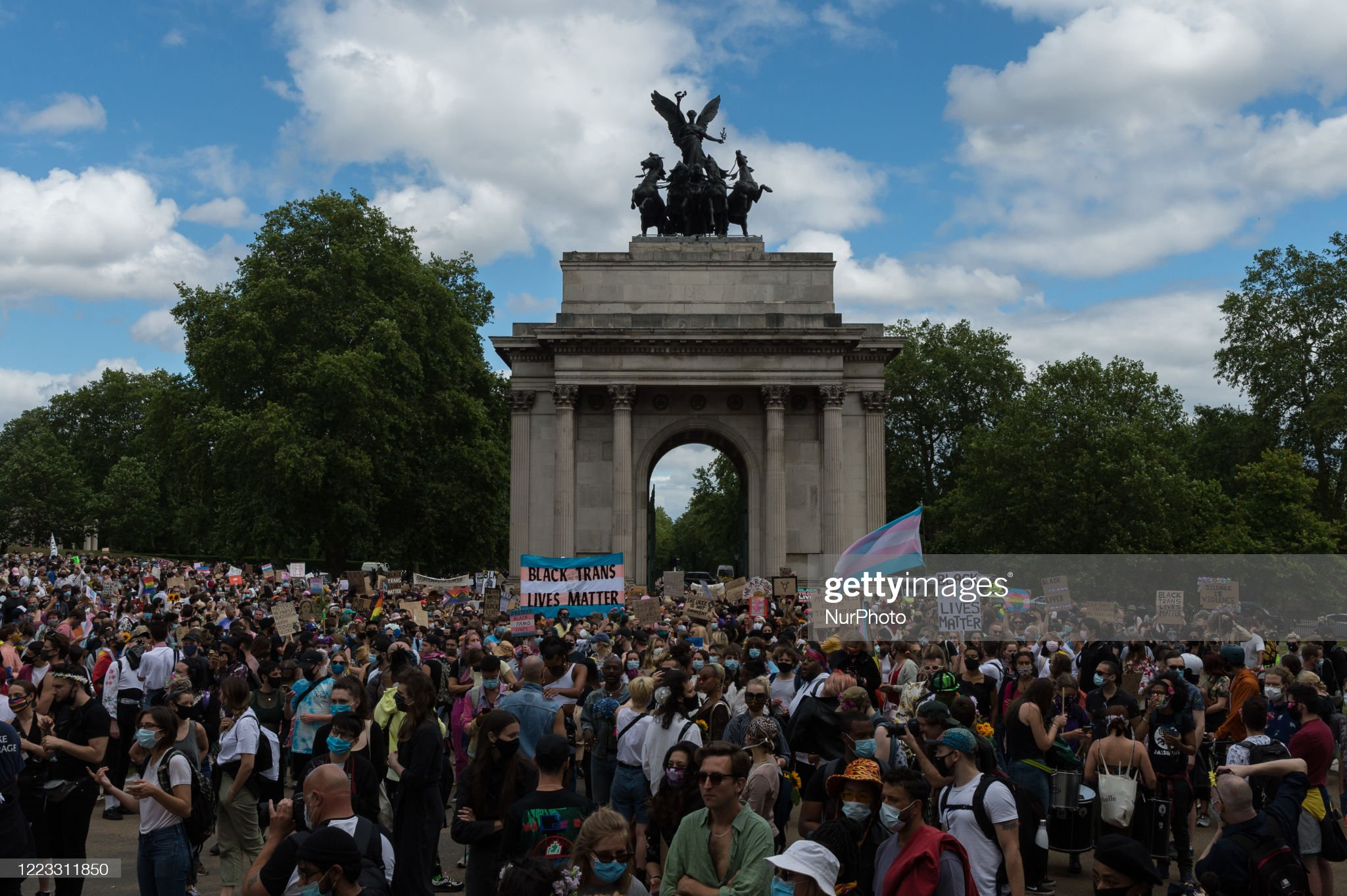 Black Trans Lives Matter Protest In London : News Photo