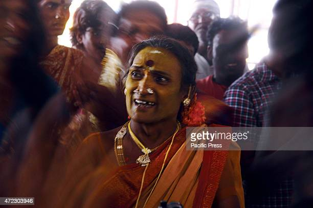 VILLUPURAM TAMILNADU INDIA Thousands of transgenders get married with Lord Aravan at Koothandavar temple in Koovagam festival on Tuesday Transgenders...