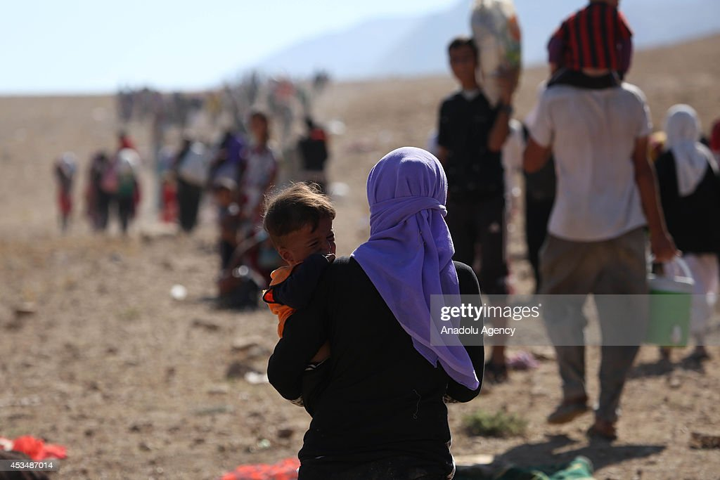 Yezidis trapped in the Sinjar mountains are rescued : News Photo