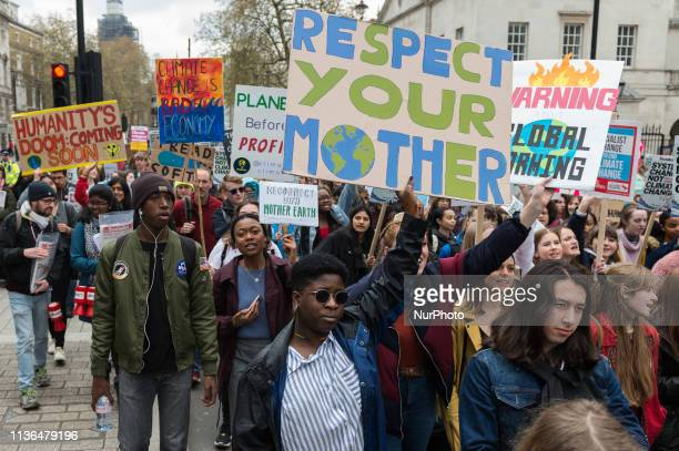 Thousands of youth strikers take part in a protest march against the governments lack of action on the climate change and destruction of the...