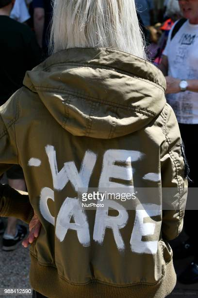 Thousands participate in a rally to protest the Trump's administration immigration policies in Philadelphia PA on June 30 2018 Similar events are...