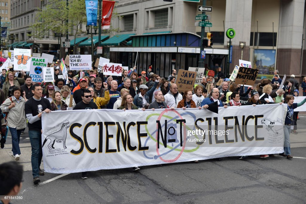 National March for Science in Philadelphia : News Photo
