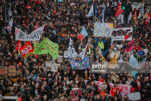 Thousands take to the streets of Paris to march in support the National strike with new unions joining the strike on a crucial day between the...