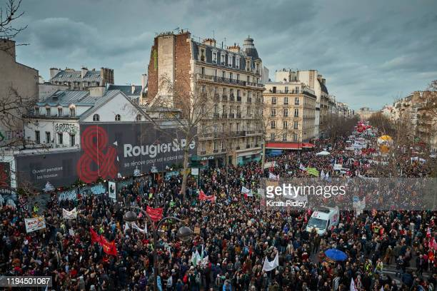 Thousands take to the streets of Paris to support the National strike with new unions joining the strike on a crucial day between the government and...