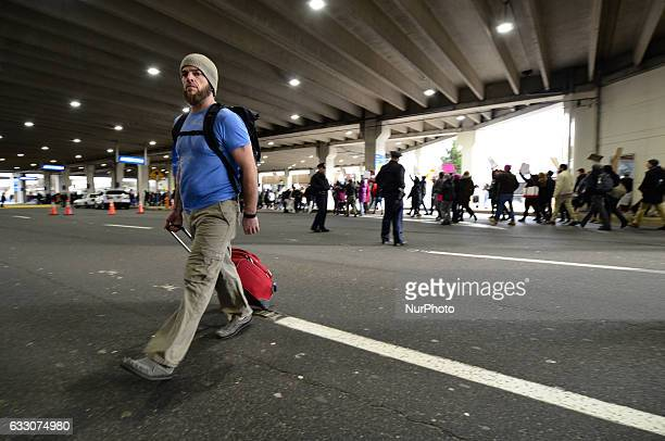 Thousands turn out for a January 29th 2017 Immigration Ban Protest at Philadelphia International Airport in Philadelphia Pennsylvania