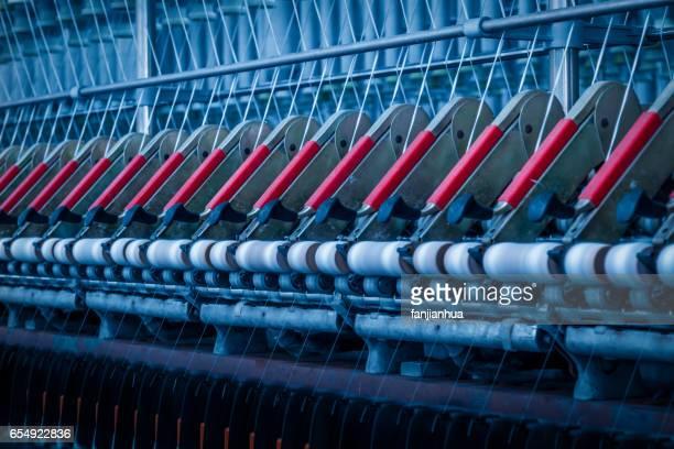 Thread making machine inside cotton mill