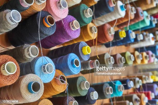 threads - textile industry stock pictures, royalty-free photos & images