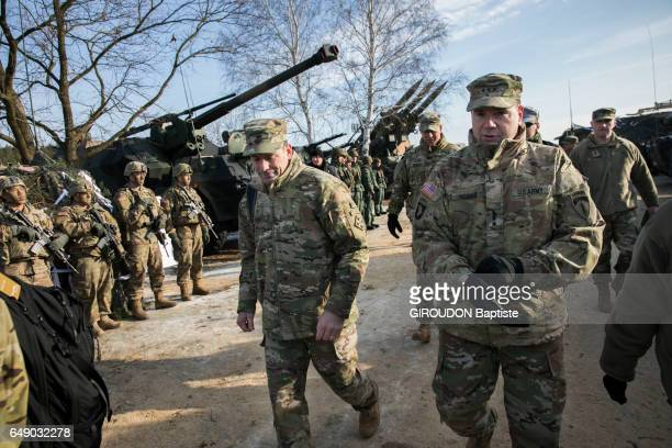 Threat of the Cold War and the military forces in Europe Investigation on the border between the NATO countries and Russia the General Frederick Ben...