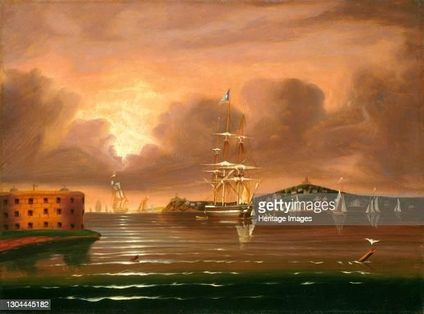 Threatening Sky, Bay of New York, mid 19th century. Artist Thomas Chambers.