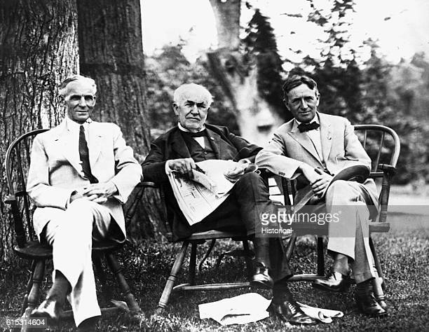 Three American innovators Henry Ford , founder of Ford Motor Company, Thomas Edison , inventor of the incandescent light and the phonograph, and...