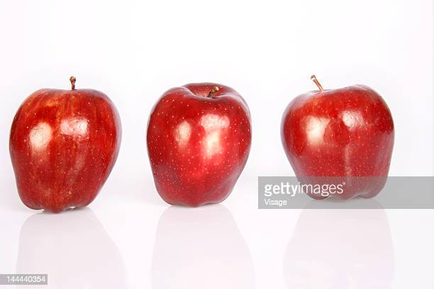 Three Apples in a row