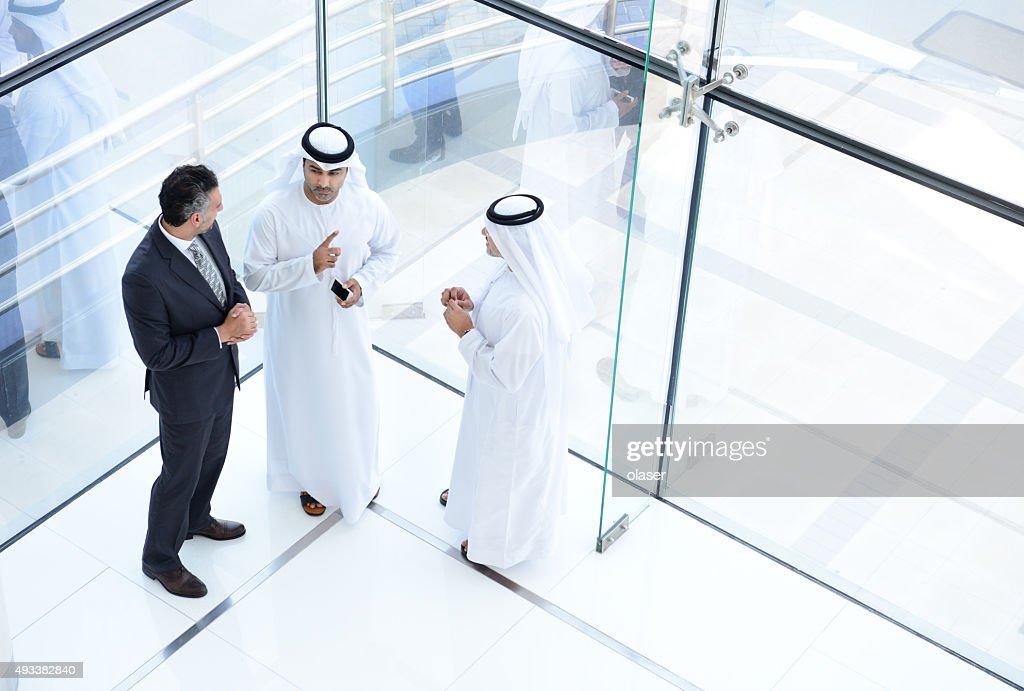 Drei arab business-Männer meeting : Stock-Foto