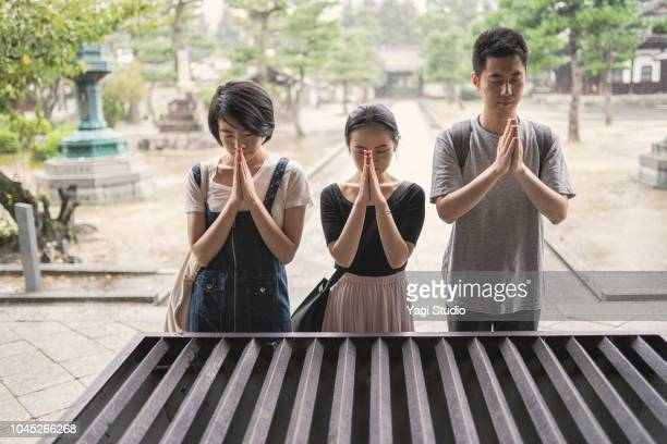 Three asian Tourist traveling in Japan,Kyoto