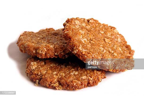 Three Australian Anzac Biscuits