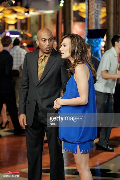 LAS VEGAS Three Babes 100 Guns And a Fat Chick Episode 13 Pictured James Lesure as Mike Cannon Molly Sims as Delinda Deline