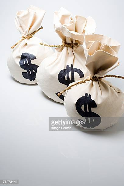 Three bags of money