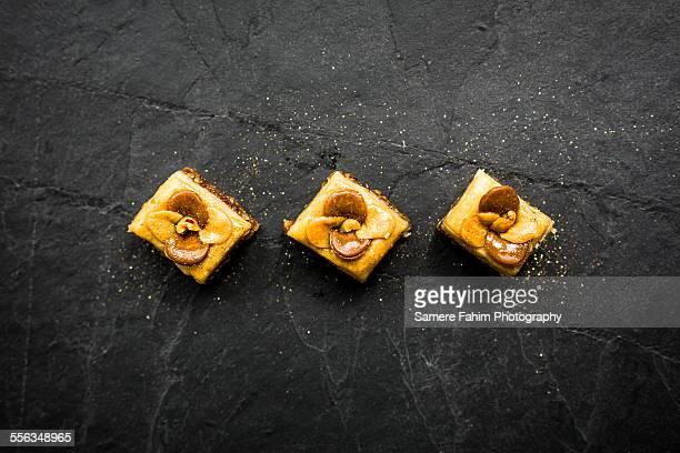 Three baklavas