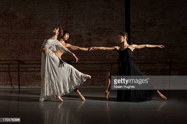 Three Ballet dancers performing together
