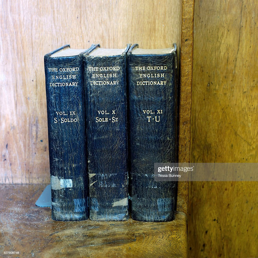 UK - Education - Oxford English Dictionaries in the library at Ampleforth College in North Yorkshire : News Photo