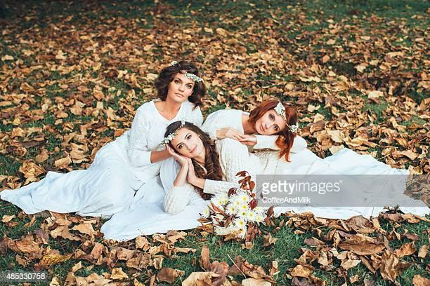 Drei schöne Braut
