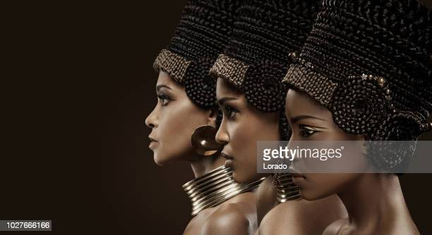 Three Beautiful Nefertiti Women