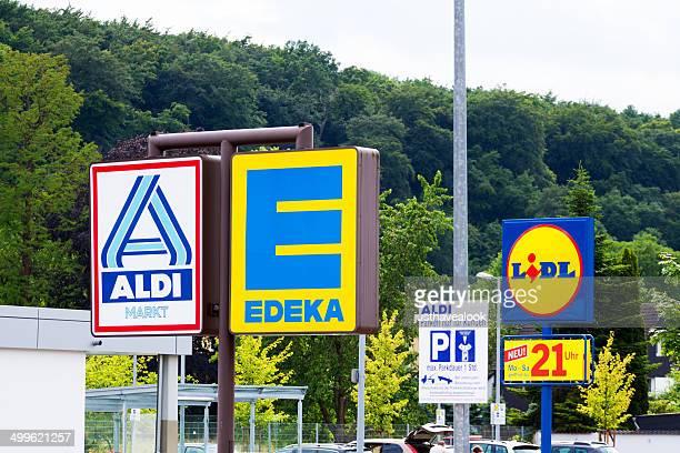 Drei großen deutschen discounters
