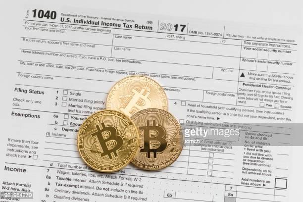 Three bitcoins on the U.S. Individual Income Tax Return