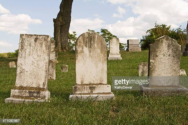 Three Blank Headstones
