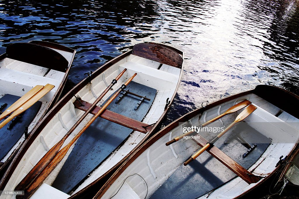 Three boats on river Avon : Stock Photo