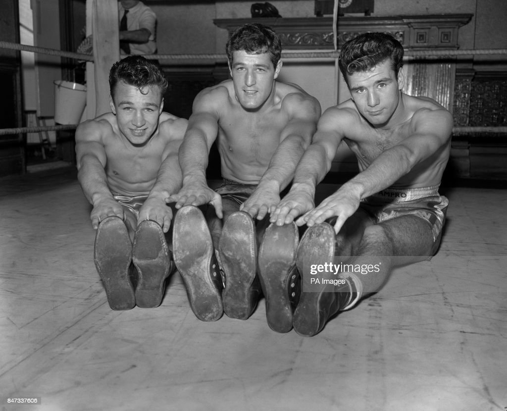 Three boxers training