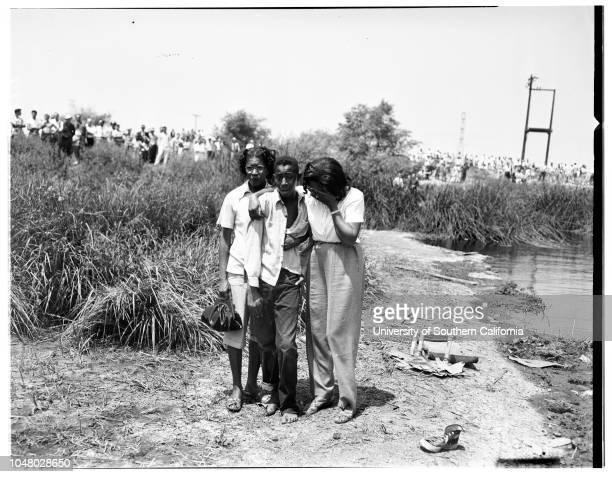 Three boys drowned July 16 1951 Ronald Thomas Ernest Austin dog 'King'Mrs Arline WimberlyCharles Thomas Fred Thomas Deputy Sheriff Warren NickensJohn...