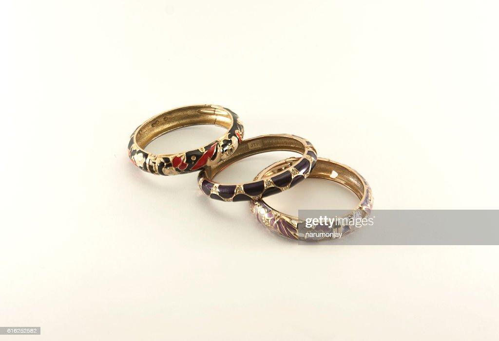 three bracelet : Foto de stock