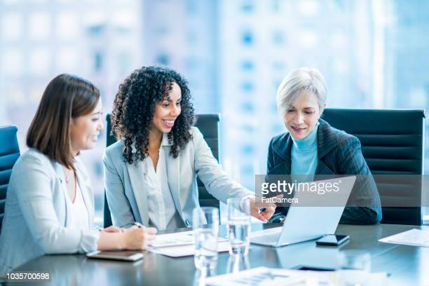 three business women - fatcamera stock pictures, royalty-free photos & images