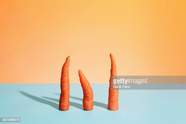 three carrots - carrot stock pictures, royalty-free photos & images