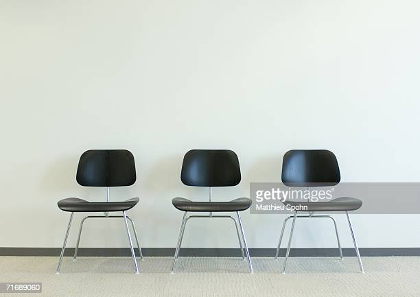 three chairs - three objects stock pictures, royalty-free photos & images
